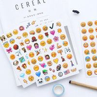 classic emoji smile face stickers for notebook diary albums message sticky notes school office stationery memo bts tools