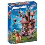 playmobil knights mobile dwarf fortress with shot ballista 9340