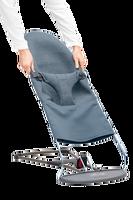 babybjorn asiento de tela adicional para hamaca bliss azul grisaceo 3d jersey