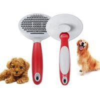 peine profesional para mascotas perro gato cabello extraccion de acero inoxidable masaje cepillo peine