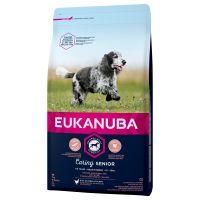 eukanuba caring senior razas medianas - 2 x 15 kg - pack ahorro