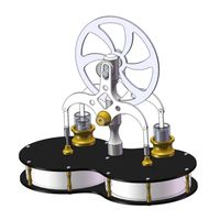 stirling doble cilindro en forma de mani diferencia de baja temperatura motor juguete educativo modelo