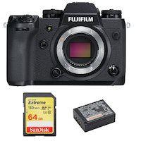 fujifilm x-h1 cuerpo  tarjeta sd de 64 gb  bateria np-w126s