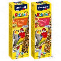 vitakraft kracker galletas para ninfas y cotorras - miel y eucalipto