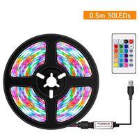 tiras de led de colores rgb regulables usb luz con control remoto ir 16 colores 4 modos de iluminacion