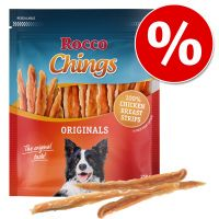 rocco chings originals - pack ahorro - tiras de pechuga de pollo 12 x 250 g
