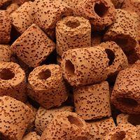 500 g bio de ceramica porosa del filtro de los medios anillos biologicos tanque de peces de acuario