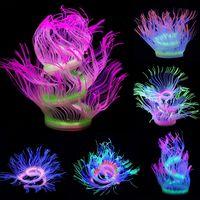 acuario pecera decoracion de la planta de agua que brilla intensamente anemona de mar coral planta ornamento nuevo