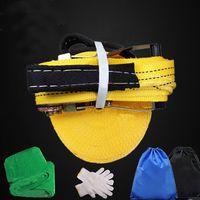 50piesslacklinealairelibre extreme sport balance trainer slackline con guantes tree protector y bolsa