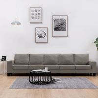 vidaxl sofa de 5 plazas de tela color gris topo