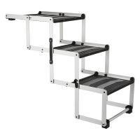 escalera plegable trixie friends on tour de aluminio para perros - 120 x 37 x 50 cm  100 x 37 x 57 cm l x an x al