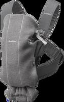 babybjorn mochila porta bebe mini gris oscuro 3d jersey