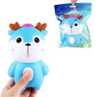 deer squishy 15  9cm soft lento aumento con el juguete de la coleccion de embalaje