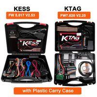 ksuite kess v2 fw 5017 v253 ktag k-tag 4 led fw 7020 v225 ecu programmer chip tuning red pcb eu online master version