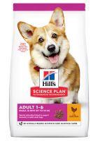 hills adult 1-6 small  mini science plan con pollo - 3 kg