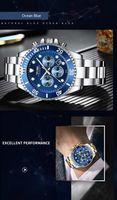 tevise t823 marca hombres reloj de lujo reloj de cuarzo reloj de acero inoxidable relogio masculino para regalo