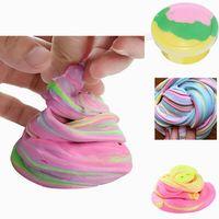 diy fluffy floam slime scented relief no borax kids toy fang lodo de algodon para liberar arcilla toy