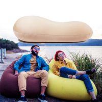 125x60cmfrijolportatilbolsasofaperezoso adultos ninos playa silla tumbona lay bolsa sofa al aire libre de viaje