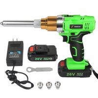 riveter gun 26v 6000mah portable cordless rechargeable electric blind support 24mm-50mm rivet with led light riveting tool