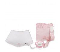 set chupete y bandana rosa