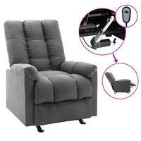 vidaxl silla reclinable electrica de tela gris claro