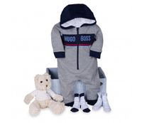 set regalo bebe deportivo hugo boss gris
