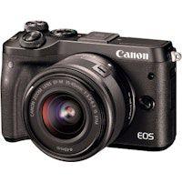 canon eos m6  ef-m 15-45mm 35-63 is stm milc 242 mp cmos 6000 x 4000 pixeles negro