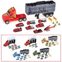 transporte coche toy container truck cocherier kids mini toy diecast coches model set gift