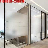 200cm frosted window film privacy no glue static cling heat transfer vinyl glass sticker for bathroom glass film decorative new