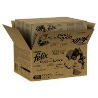 felix fantastic 80 x 100 g - jumbopack - vacuno pollo pato cordero