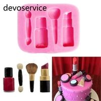 makeup tools silicone mould design lipstick fondant cake mould 3d soap chocolate decorative baking bakeware kitchen accessories