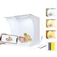 puluz pu5023 20cm anillo de luz portatil plegable mini carpa de tiro caja de luz caja de luz con telon de fondo