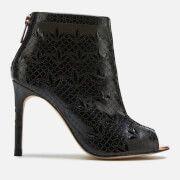 ted baker womens hauula open toe shoe boots - black - uk 8