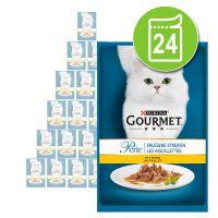 purina gourmet perle en sobres 24 x 85 g - pack ahorro - finas laminas en salsa con atun