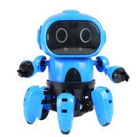 mofun diy vastago 6-legged gesto sensacion infrarrojo evita obstaculos caminando robot