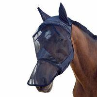 m  l  xl transpirable caballo fly mascara orejas de malla nariz cara completa para equipo caballo