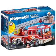 playmobil city action fire ladder unit with extendable ladder 9463