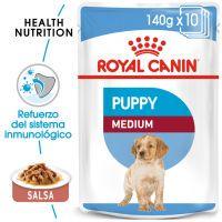royal canin medium puppy comida humeda para perros - 20 x 140 g - pack ahorro