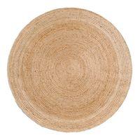 alfombra redonda de yute hempy o250 cm