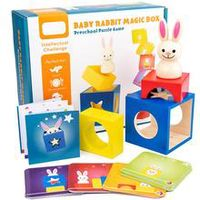 baby creative magic box toy with cognitive card peekaboo toy rabbit boo development educational gift for children