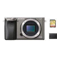 sony a6000 cuerpo gris  tarjeta sd de 64 gb  bateria np-fw50