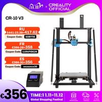 creality 3d cr-10 v3 printer size 300300400mmtmc2208 silent mainboard resume printingbl touch optionalnot pre-installed