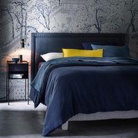 cabecero de cama de lino lavado al 135 cm hampstead