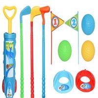 39  95cm 218g juego de golf de practica para padres e hijos para ninos abs plastico ambiental para interiores y al air