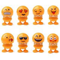 7 cm emoji spring shank head doll cute stress relief toy key buckle regalo coche decoracion