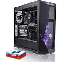 fierce cobra pc gamer - rapido 45ghz hex-core intel core i5 9600k 240gb unidad de estado solido 2tb disco duro 16gb de 3000mhz nvidia geforce gtx 1660 6gb windows 10 instalado 883569