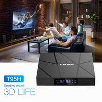t95h android 100 smart tv box allwinner h616 quad-core 64 bit 2  16gb 6k reproductor multimedia pantalla lcd
