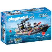 playmobil city action swat boat with hook cannon 9362