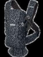 babybjorn mochila porta bebe mini - antracitaleopardo malla 3d