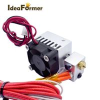 3d printer hot end e3d v6 long distance 1 in 1 out extruder single head 12v24v 04mm 175mm with cooling fan 3d printer parts
